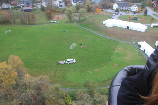 Balloons of Vermont - Private Flights: leaving our launch site