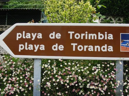 Playa de Torimbia: indicador