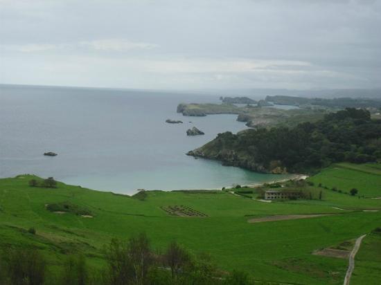 Playa de Torimbia: vista desde arriba