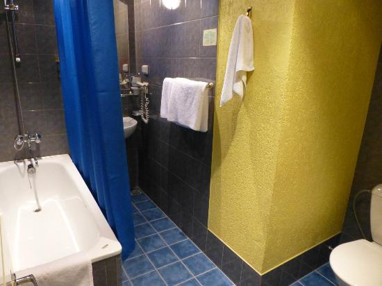 Art Hotel Laine : Bathroom with bathtub