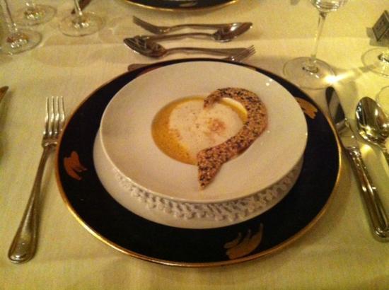 Hotel Hof Weissbad : Gourmet-Dinner Suppe