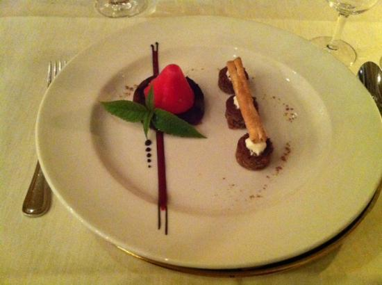 Hotel Hof Weissbad : Gourmet-Dinner Dessert