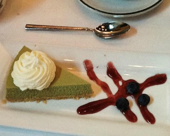 Green cheesecake at the Blue Orchid