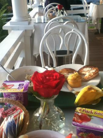 Terrace by the Sea: breakfast on the porch overlooking ocean