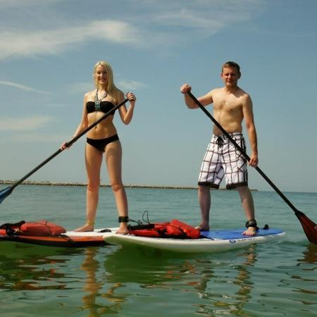 Tampa Bay SUP Stand Up Paddleboarding & Kayaking : Paddle boarding fun with my twin!
