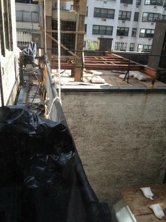 The Surrey: View from bedroom window, ultra deluxe suite 