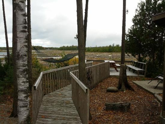 Bear Cove Bed and Breakfast: Romantic boardwalk leading to the water