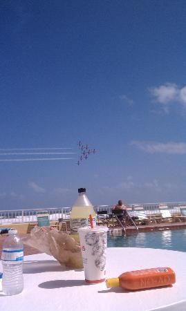 Best Western Daytona Inn Seabreeze: air show view