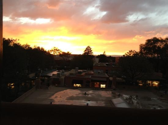 Inn and Spa at Loretto: sunset from room 329
