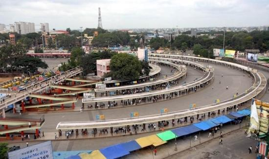 Bangalore, India: majestic bus stand