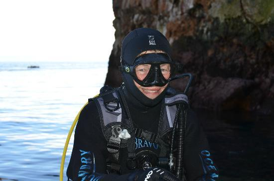 Yukon Dive: If you are lucky enough to dive with Mary, it's a good day!