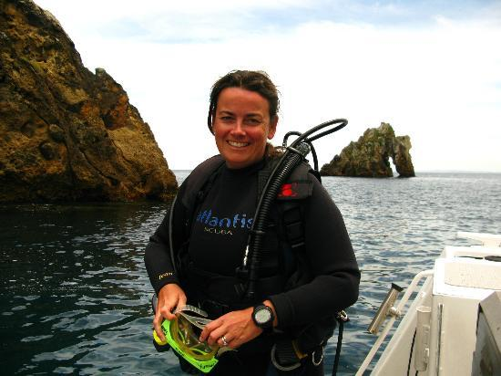 Yukon Dive: Jo (Owner) happy to be getting for a dive!