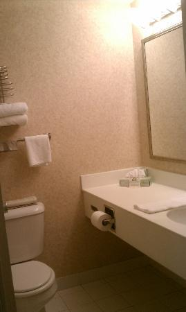Days Inn Atlantic City Oceanfront-Boardwalk: Simple but clean bathroom!