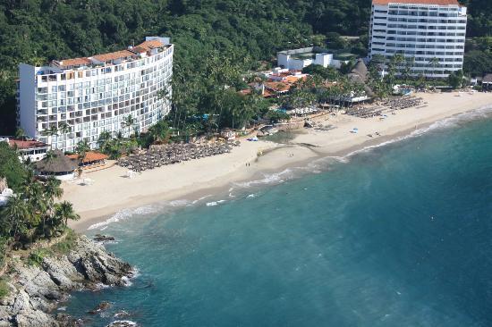 Hyatt Ziva Puerto Vallarta Aerial View Of Resort While Parasailing