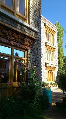 Ladakh Continental : Facade from garden