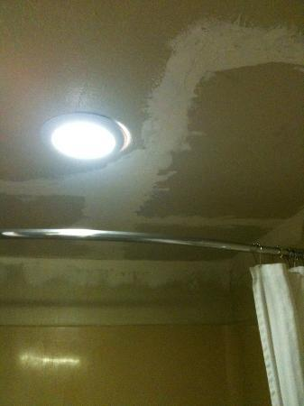 Discovery Inn Ukiah, CA: Ceiling in bathroom