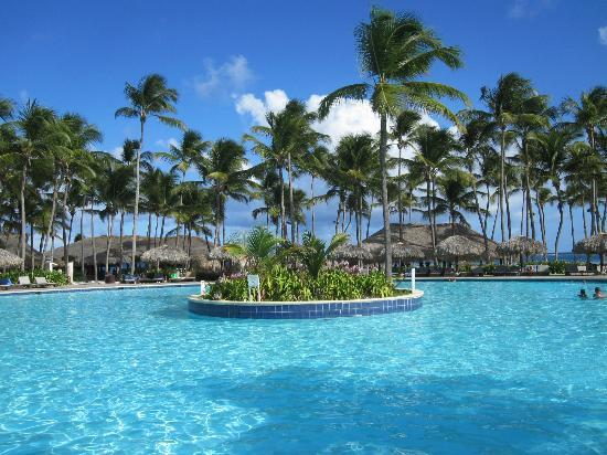 La piscine derriere la plage picture of club med - Club med punta cana chambre club famille ...