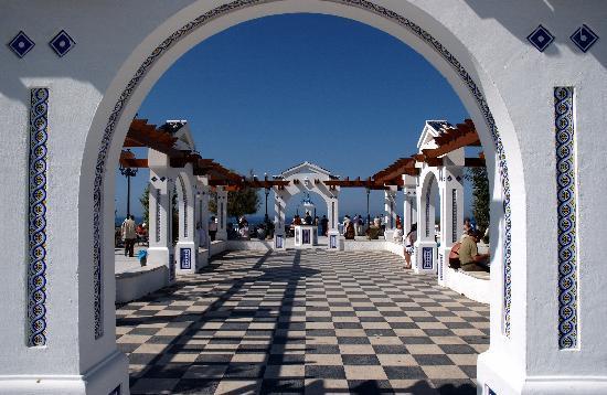 Balcon del Mediterraneo : Plaza der zum Balcon fuehrt