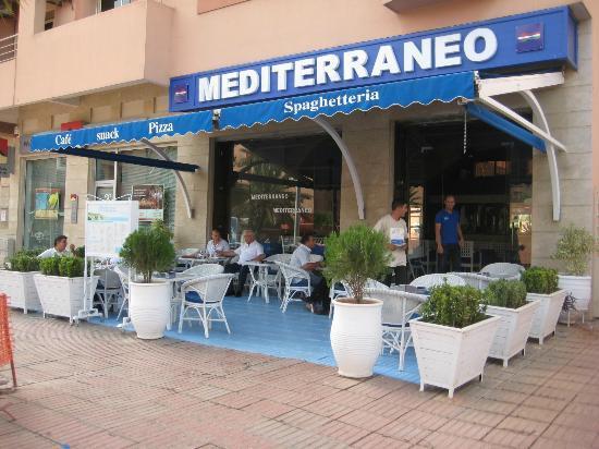 Mediterraneo Snack Pizza Cafe: La prima SPAGHETTERIA a Marrakech
