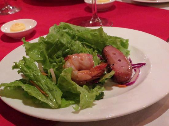 Au Lac do Brazil: shrimp and sausage