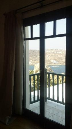 Tharroe of Mykonos Hotel: View from the Bedroom french doors