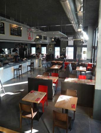 salle vue de la cuisine - picture of burger & wine, lyon - tripadvisor