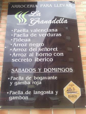 Restaurante La Granadella: DISFRUTALO EN CASA
