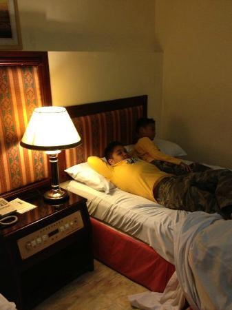 New York Hotel: My boys in bed before leaving for the airport