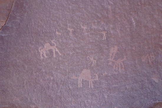 Wadi Rum Adventures: Nabataeische Felszeichnungen.