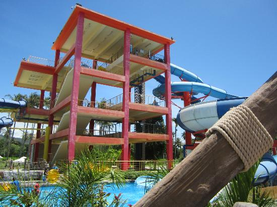 Centara Grand West Sands Resort & Villas Phuket: Many steps up to be able to slide down the waterslides