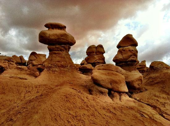Sunlit Oasis: Goblin Valley, east and north of Notom on the way to Moab