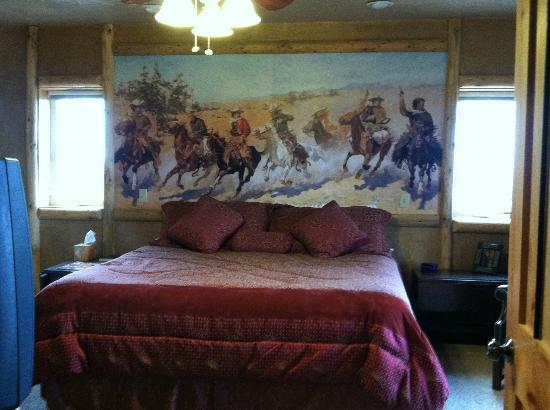 Notom Ranch Bed & Breakfast: Robbers' Roost with Cowboy wall decor!