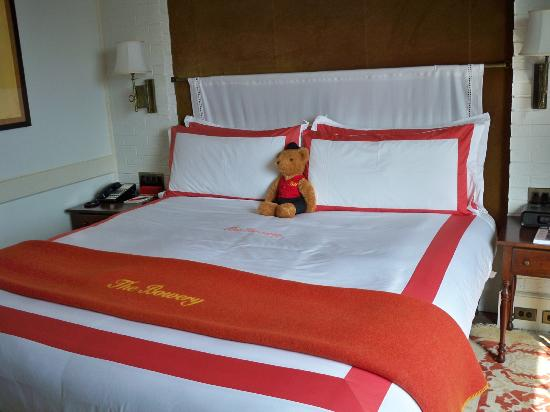 The Bowery Hotel: Bed with Teddy