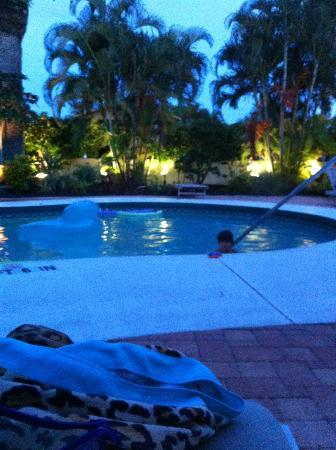 Sunrise Garden Resort: The pool @ night