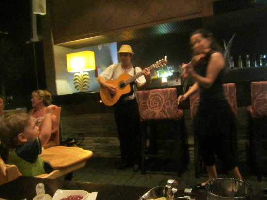 Centara Grand West Sands Resort & Villas Phuket: Entertainment at main restaurant during dinner