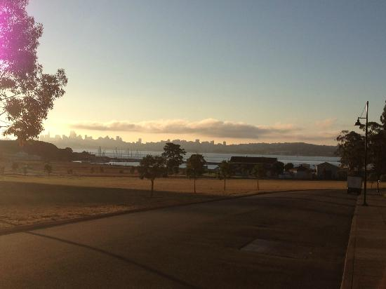 Cavallo Point: View from grounds - early morning