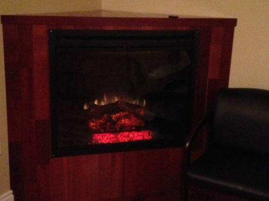 Quality Hotel Fallsview Cascade: Nice and cozy fireplace!