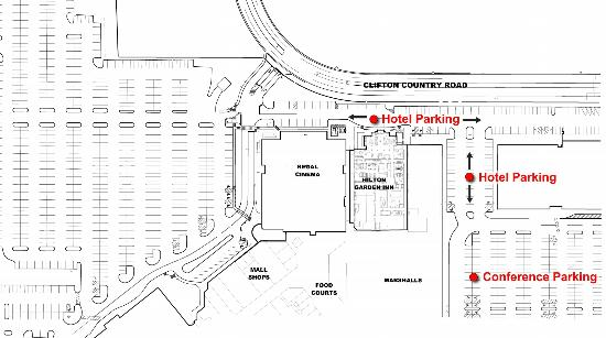 Hilton Garden Inn Clifton Park: Parking Map