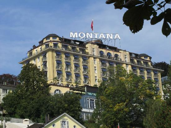 Art deco hotel montana luzern from lakeside
