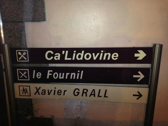 Ca' Lidovine : Affiche visible par la rue du Général de Gaulle
