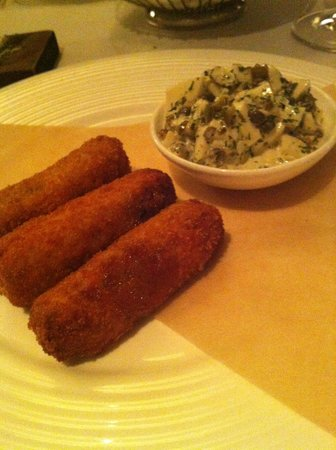 The Savoy Grill: Pig's Head Croquettes with sauce Grebiche