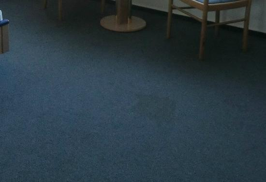 S.E.E. Hotel: Fleckiger Teppich direkt im Wohnbereich