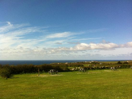Treen Farm Campsite: View from Treen Farm