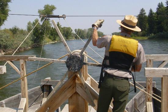 Menor's Ferry Historical Trail: Across we go.