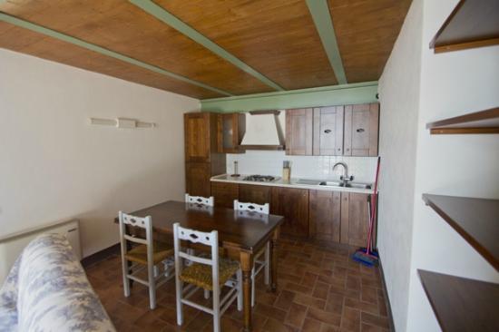Le Valline: appartamento, zona cucina