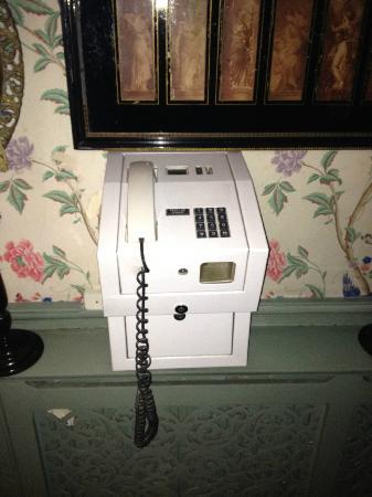 Pavilion Hotel: old payphone memorabilia