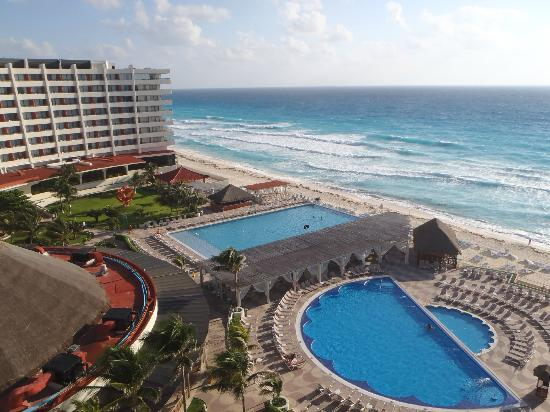 Crown Paradise Club Cancun: view from our balcony
