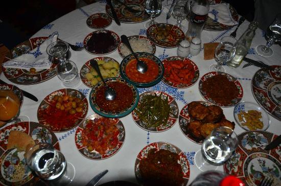 Restaurant dar hatim: seemingly endless Moroccan Salad