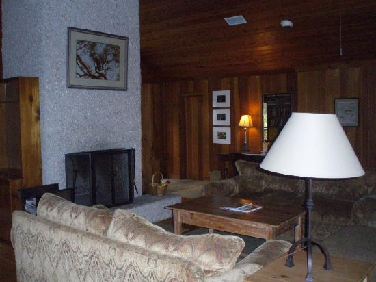 The Lodge on Little St. Simons Island: Cedar lodge living room