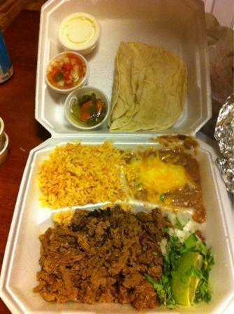 Taco King: adobada dinner